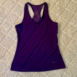 Under Armor purple athletic top